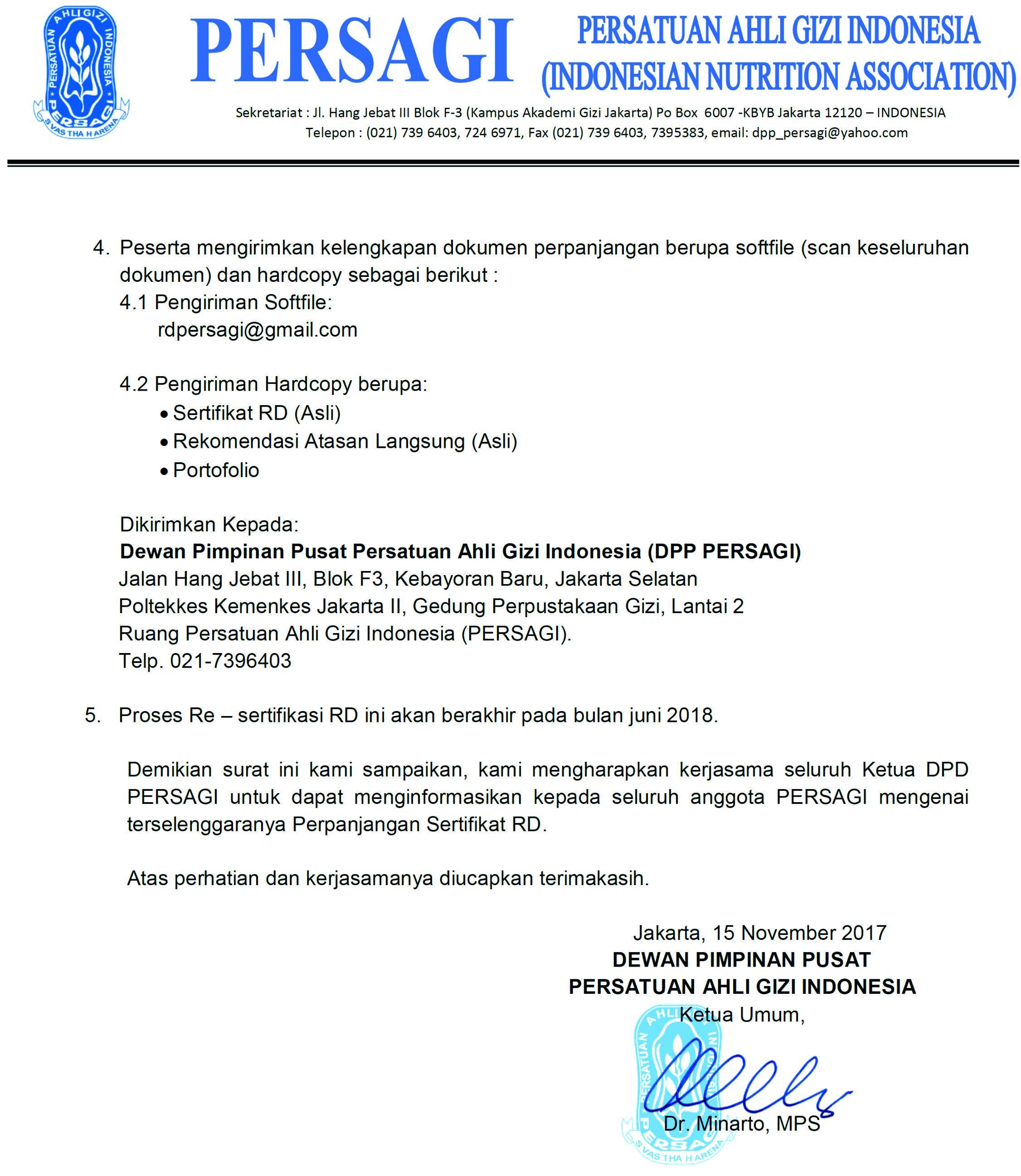 Perpanjangan Rd Dpd Persagi Sulawesi Selatan